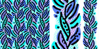 Seamless repeating textile ink brush strokes pattern in doodle g. Seamless repeating textile, ink brush strokes pattern in doodle grunge texture style.Handdrawn royalty free illustration
