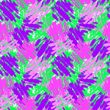 Seamless repeating textile ink brush strokes pattern in doodle  Royalty Free Stock Photography
