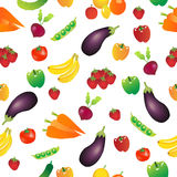 Seamless Repeating Vegetables Background Royalty Free Stock Photography