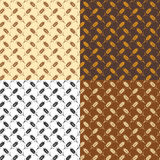 Seamless repeating wheat patterns, vector  Stock Photography