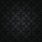 Seamless repetitive black floral pattern Royalty Free Stock Photos