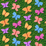 Seamless repetitive pattern with butterflies stock illustration