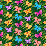 Seamless repetitive pattern with butterflies Royalty Free Stock Image