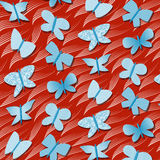 Seamless repetitive pattern with butterflies Stock Photo
