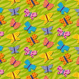 Seamless repetitive pattern with butterflies Royalty Free Stock Images