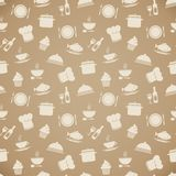 Seamless restaurant menu pattern background Royalty Free Stock Image