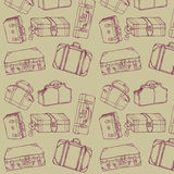 seamless resväskalopp Arkivbild