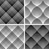 Seamless reticulate patterns set. Stock Images