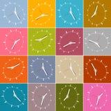 Seamless Retro Abstract Clock Face Royalty Free Stock Image