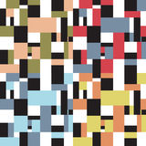Seamless retro abstract fifties design. In four variations Royalty Free Stock Photos