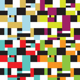 Seamless retro abstract fifties design. In four variations Stock Photography