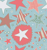 Seamless retro abstract pattern with stars  Starry Stock Photo