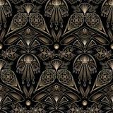Seamless retro art deco pattern ornament. Geometric stylish back Stock Images