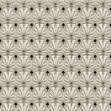 Seamless retro art deco pattern ornament. Geometric stylish back stock illustration
