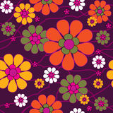 Seamless retro background. Seamless abstract retro floral background Royalty Free Stock Photography