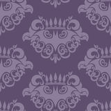 Seamless Retro Background with Bat Pattern Royalty Free Stock Photography
