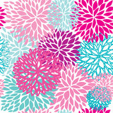 Seamless retro background with cute flowers Royalty Free Stock Photos
