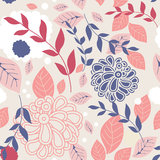 Seamless retro background with cute flowers Royalty Free Stock Photography