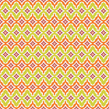 Seamless retro background in modern ikat pattern Stock Images