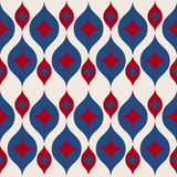 Seamless retro background in modern ikat pattern usa color style fashion Stock Photography