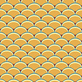 Seamless retro background in modern ikat pattern Royalty Free Stock Images