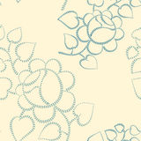 Seamless retro background with roses Royalty Free Stock Photo