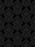 Seamless retro barocco background. Seamless retro barocco black and grey background Royalty Free Stock Photo