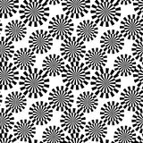 Seamless retro black pattern Stock Images