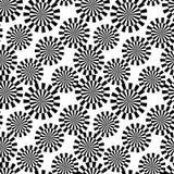 Seamless retro black pattern Stock Images