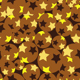 Seamless retro brown pattern Stock Photos