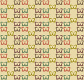 Seamless retro butterfly background Royalty Free Stock Photos