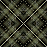 Seamless retro checkered green pattern Royalty Free Stock Photo