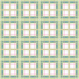 Seamless retro checkered plaid pattern Stock Photography