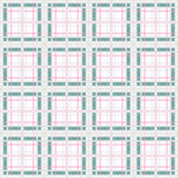 Seamless retro checkered plaid pattern Royalty Free Stock Images