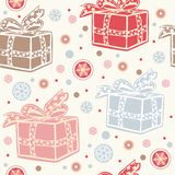 Seamless retro christmas background. Stock Photos