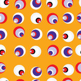 Seamless retro circle background. Seamless pattern of colorful circles on an orange background Stock Images
