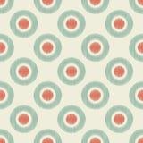 Seamless retro circle dots wallpaper art Royalty Free Stock Photography