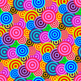 Seamless retro circle pattern Royalty Free Stock Photography