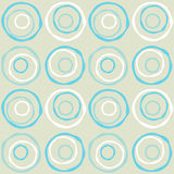 Seamless retro circles. Irregular retro circles Royalty Free Stock Photo