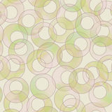 seamless retro cirkel för bakgrund Arkivfoto