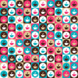 Seamless retro coffee and tea pattern Stock Images