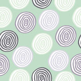 Seamless retro colored circle background Stock Photo