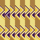 Seamless retro colored pattern of diagonal lines and triangles. Abstract seamless pattern of diagonal lines and triangles. Geometric print in contrasting retro Stock Photos