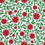 Seamless retro colourfull flower pattern in vector Stock Image