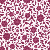 Seamless retro colourfull flower pattern in vector Stock Photography