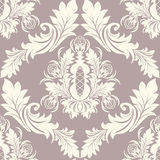 Seamless retro damask Ornament Royalty Free Stock Images
