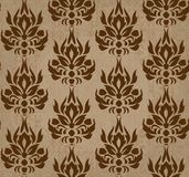 Seamless retro damask vector pattern Royalty Free Stock Photos