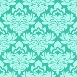 Seamless retro damask Wallpaper in blue Colors Royalty Free Stock Images