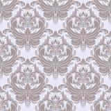 Seamless retro damask Wallpaper for Design Stock Image