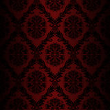 Seamless retro damask Wallpaper - red colors Stock Photography